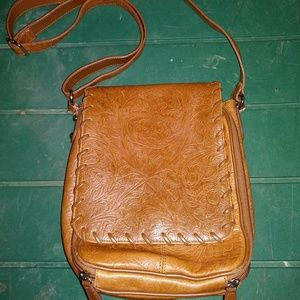 COLDWATER CREEK leather crossbody